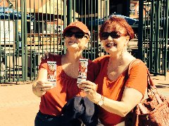 Angel's game Aug.,31. w/ Helene LeClair of Desert Oasis Health Care.