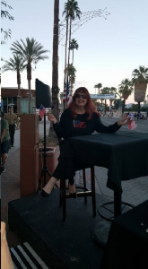 Commentating the P.S. Veteran's Day Parade in front of Alibi Azul, 365 N. Palm Canyon on Nov. 11. GOD BLESS AMERICA!!!