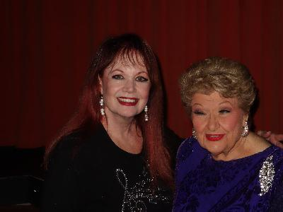 Marilyn Maye at the Annenberg on 1/16. She's almost 88 and still singing....AND you KNOW I just LOVE THOSE FALSE EYELASHES!!!! Photo courtesy of Tom Read.
