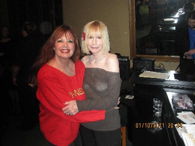 Sally Kellerman promoting her appearance at the Purple Room on the 15th, 16th and 17th.