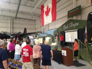 Blessed to perform the Canadian AND American National Anthems at the P.S. Air Museum on 3/12