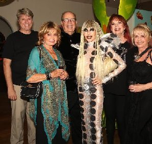 Coda Gallery's Fashion Week exhibit w/artists Tony and Karen Barone, Jim from PS Door and Window, sisters-in-law Elaine and Marie. April 4. Photo courtesy Pat Krauss.