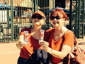 Angel Stadium w/birthday girl, DOHC's Helene Le Clair, 9/16/16. We won't discuss the score.