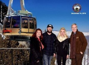 Dec. 14 - Tram ride w/Tyler, Adrienne and our host Greg Purdy