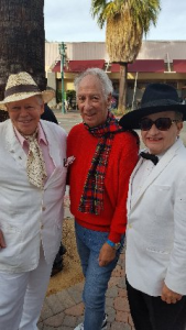 "Joey (Star #193) attended the dedication of Truman Capote (Star #403) w/Joel Vig, of the Truman Capote Literary Society and Tom Fry, touring w/the show ""Tru"""