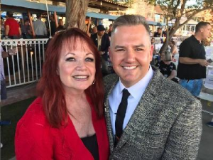 Ross Matthews getting his star (#401) in Palm Springs w/Joey (#193) on the Walk of Stars. Nov. 5, 2016